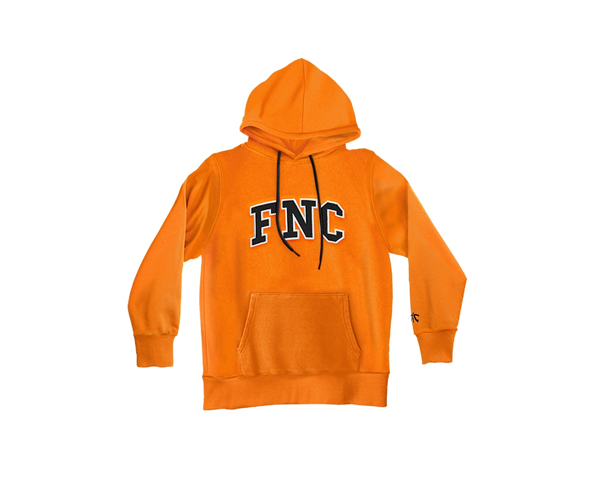 FNC College Hoodie Orange i gruppen Tøj / Team store / Fnatic hos MaxGaming (11191)