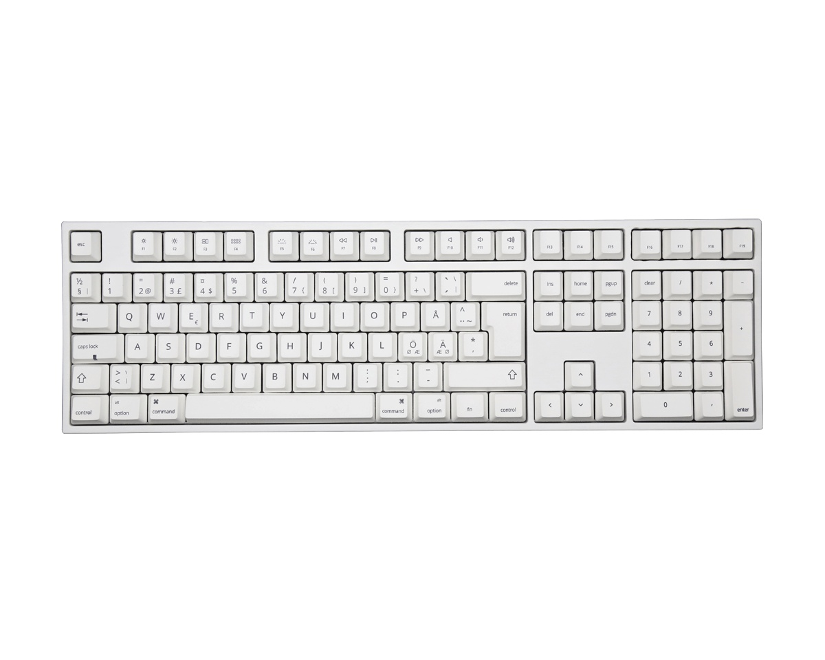 VA109Mac Hvid PBT Hvid LED Tastatur [MX Black] (MAC) i gruppen Computertilbehør / Tastatur og tilbehør / Gaming tastatur hos MaxGaming (12678)